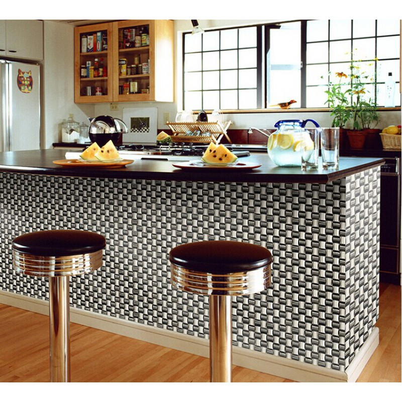 Black And Silver Kitchen Accessories: Silver Chrome Stainless Steel Backsplash Arched Mosaic