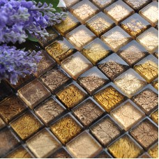 Crystal glass tile backsplash square glossy glass mosaic tile brick CB033 golden kitchen mosaic floor mirror bathroom wall tiles