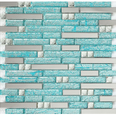 stainless steel backsplash blue glass mosaic tiles kitchen back splash cheap diamond mosaic H20 crystal glass subway bathroom shower tile designs