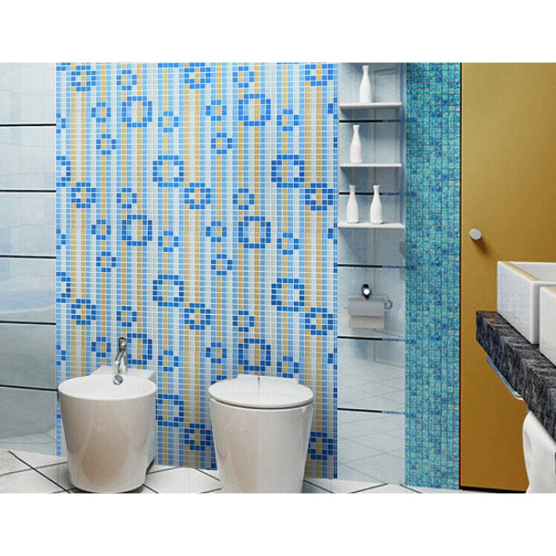 Glass mosaic tile mural waterfalls flow patterns kitchen for Bathroom mural tiles