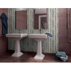 glass mosaic tile mural waterfalls flow patterns bathroom mirror wall picture CL106 crystal backsplash glass puzzle dinning room decor