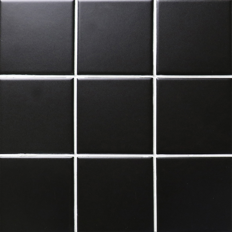 Black Matte Porcelain Tile Non Slip Tile Washroom Wall