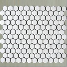 small hexagon porcelain tile white shiny porcelain tile NON-SLIP tile washroom wall tiles shower tile kitchen wall backsplashes tile XMGT202