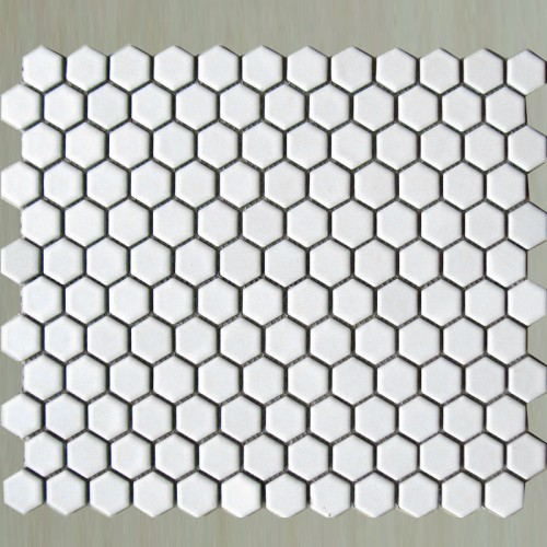 small hexagon porcelain tile white shiny porcelain tile NON-SLIP tile washroom wall tiles shower tile kitchen wall backsplashes tile XMGT202