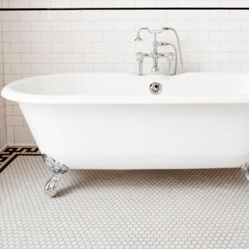 White Kitchen Wall Tiles small hexagon porcelain tile white shiny porcelain tile non-slip