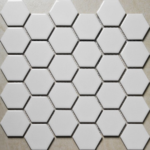 hexagon porcelain tile white SHINY porcelain tile NON-SLIP tile washroom wall tiles shower tile kitchen wall backsplashes tile XMGT4BT