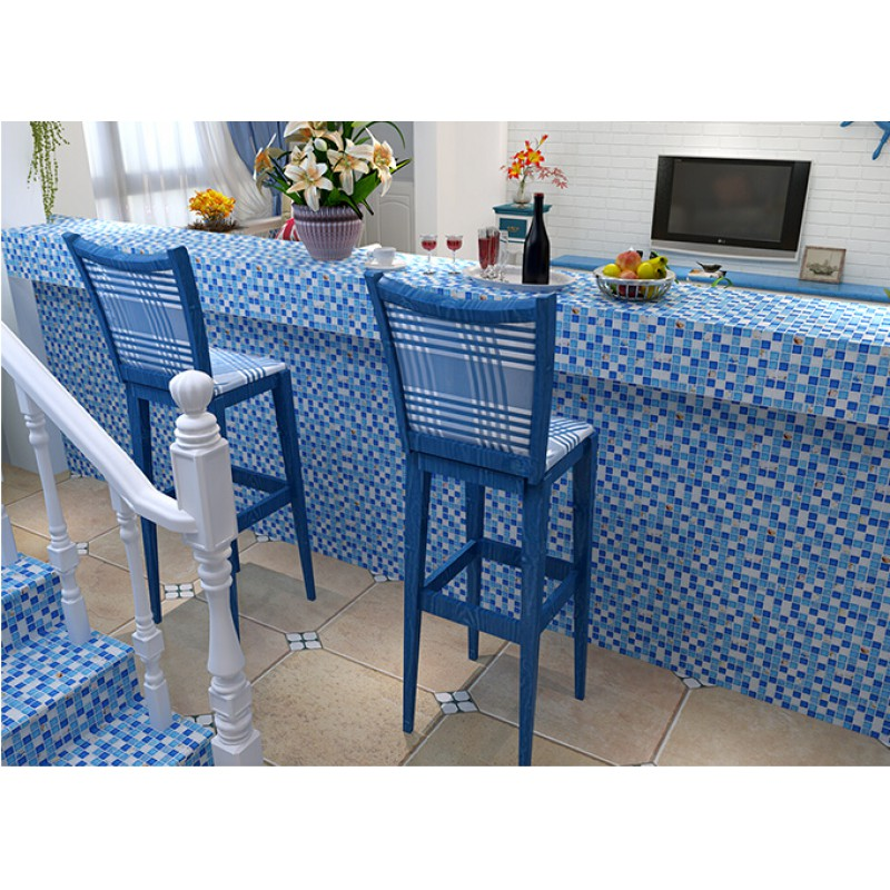 Crystal Resin Conch Tile Kitchen Backsplash Bathroom Flooring Sea Blue  Crackle Glass Bar Table Shower Wall ...
