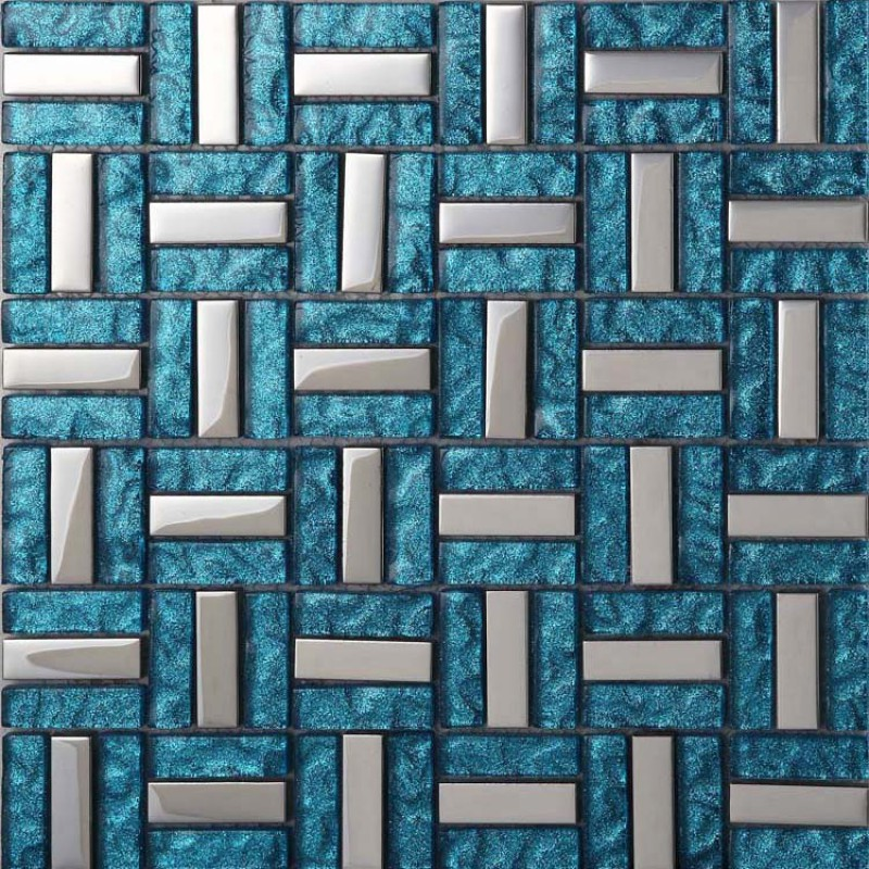 Crystal Glass Tiles Sheet Diamond Mosaic Art Wall Stickers