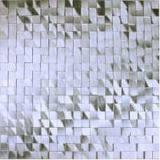 Brushed aluminum mosaic tile kitchen wall backsplash silver metal tile sheets seamless mosaic tiles designs bathroom MAT001