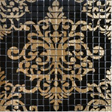 Glass mosaic tile murals black and gold crystal backsplash TMF007 plated mosaic puzzle wall tiles bathrooms with mosaic tile designs