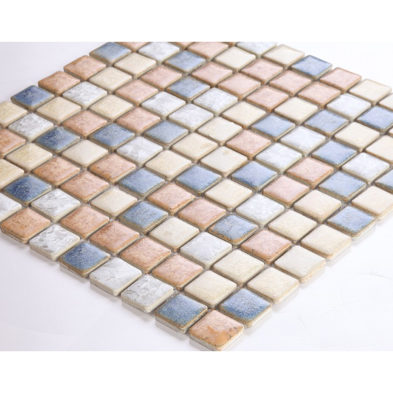 porcelain tile sheets 1 inch Kitchen backsplash tiles DS999 mix