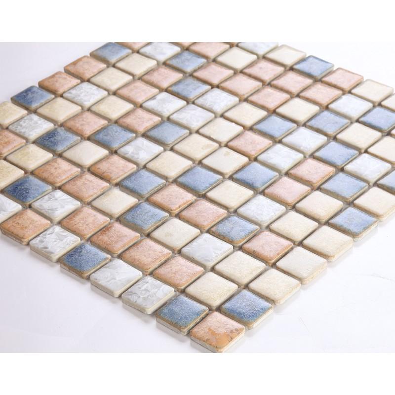 Glazed Porcelain Tile Sheets 1 Inch Kitchen Backsplash Tiles Ds 999 Mix Colors Ceramic Stickers Bathroom
