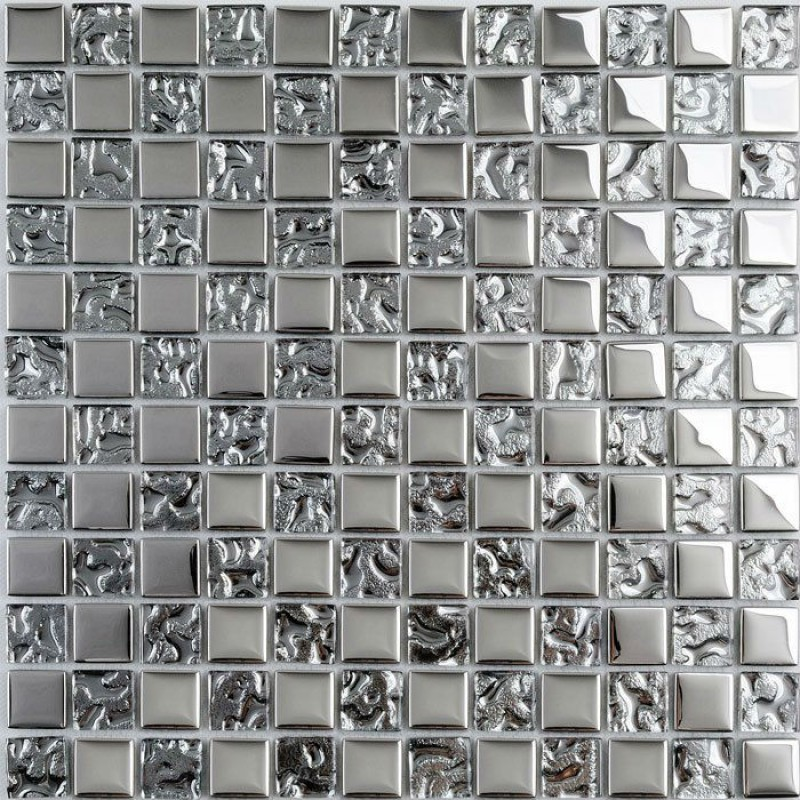 Silver Kitchen Plated Backsplash Wall Tile Borders Decorative Tile Plated  Glass Mosaic Tiles Pattern Wave Crystal Mosaics DT53