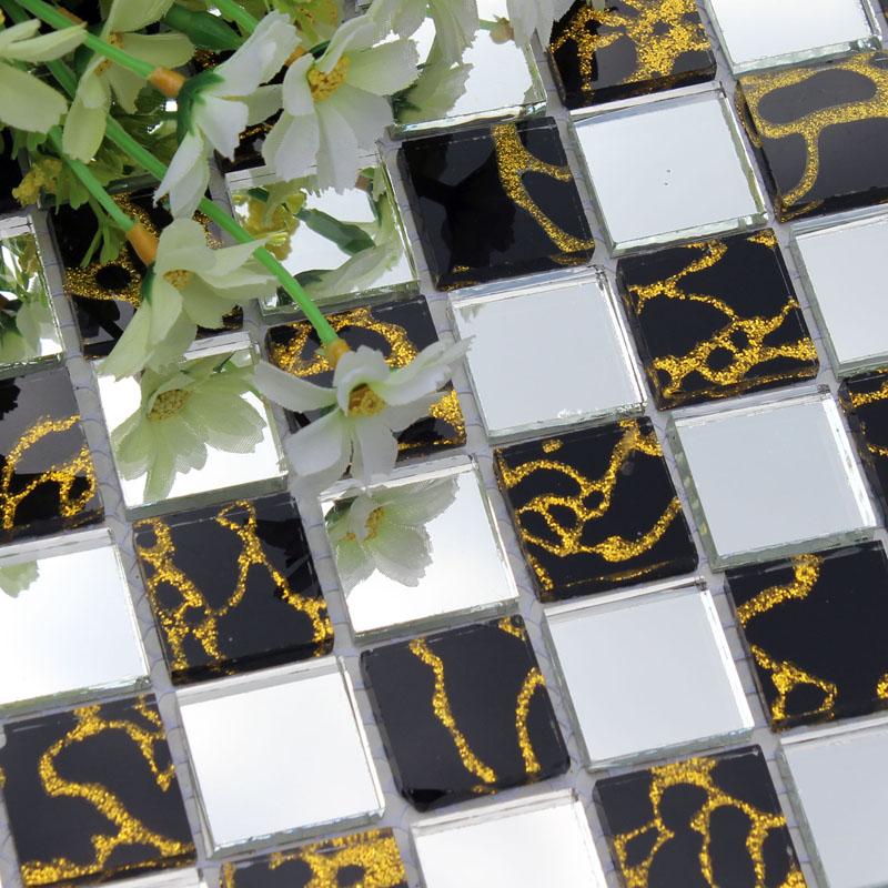 Glass Mosaic Tiles DU203 Wall Stickers Discount Tile Backsplash Kitchen  Design Ideas Bathroom Floor Mirrored Crystal Mesh Sheet - Mosaic Tiles DU203 Wall Stickers Discount Tile Backsplash Kitchen
