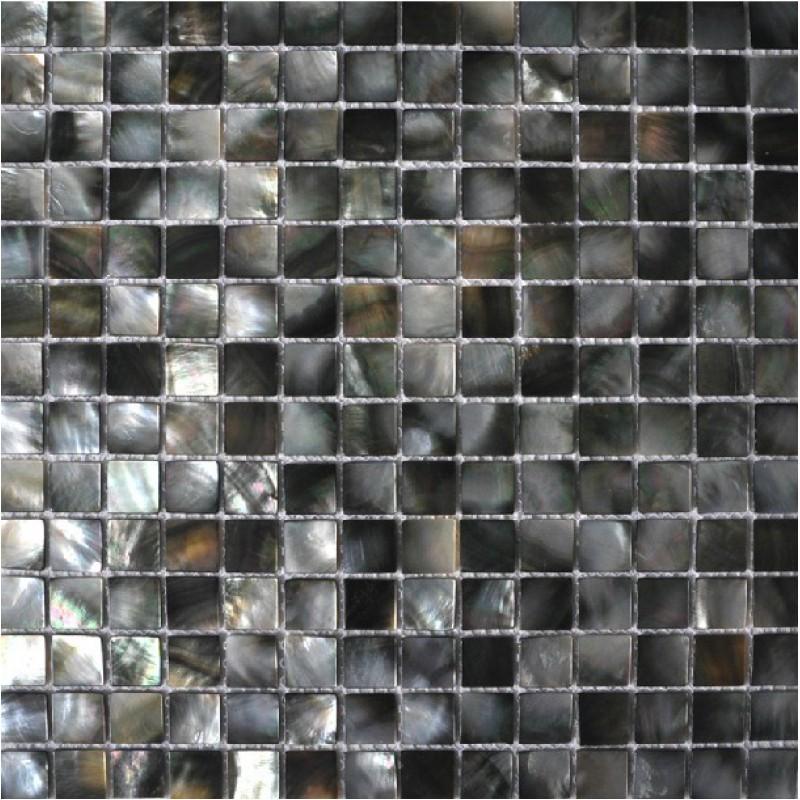 Seashell Tile Backsplashes Kitchen Black Lip Shell Deepwater Mother Of Pearl Tiles Square Mosaic Bathroom Wall
