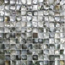 Black lip shell tile backsplash cheap  deepwater seashell mosaic flooring for kitchen and bathroom mother of pearl square natural tiles DWS004