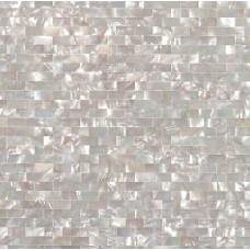 Seashell tile subway backsplash tiles for kitchen and bathroom iridescent wall shell mosaic mother of pearl