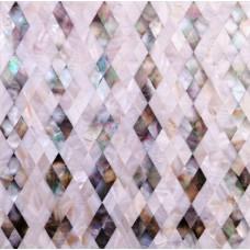 Seashell diamond shape kitchen backsplash cheap shell mosaic wall tiles mother of pearl tiles bathroom wall tile patterns DWS008
