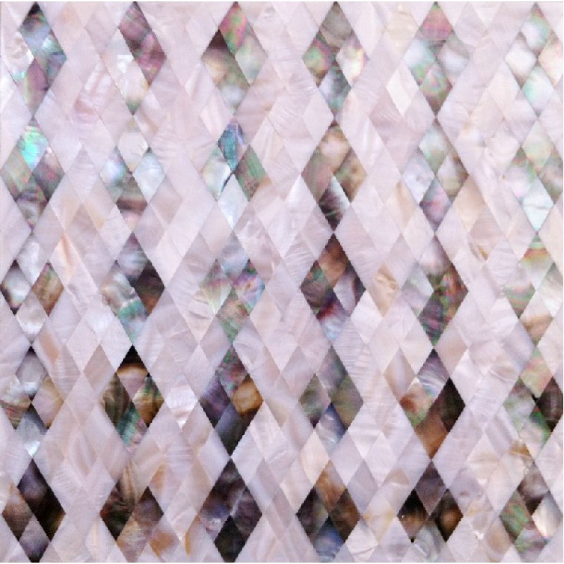 Seashell Diamond Shape Kitchen Backsplash Cheap Shell Mosaic Wall Tiles  Mother Of Pearl Tiles Bathroom Wall ...