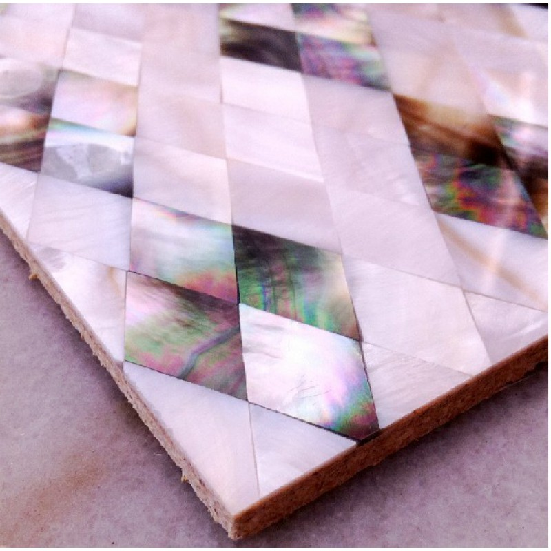 Seashell Backsplash Tile: Seashell Diamond Shape Kitchen Backsplash Cheap Shell