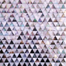 Seamless shell tile backsplash pyramid patterns triangle seashell tile diamond shape mosaic mother of pearl tiles for kitchens DWS010