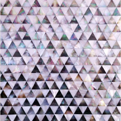 Seamless shell tile backsplash pyramid patterns triangle seashell tile diamond shape mosaic mother of pearl tiles for kitchens DWS010