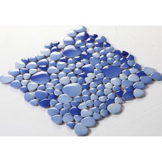 ceramic mosaic tile backsplash cheap pebbles blue sky glazed tiles sheet wholesale porcelain pebble tile designs FS1701 bath wall swimming pool flooring
