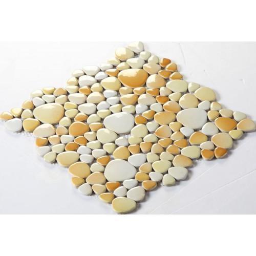 porcelain pebble tile glazed ceramic mosaics fambe bathroom 3d floor tiles kitchen backsplash FS1703 swimming pool pebbles mosaic wall tiles