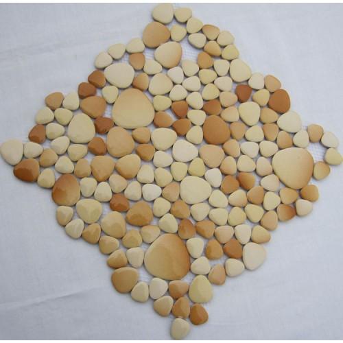 pebble tile mosaic sheets glazed porcelain kitchen backsplash cheap fambe ceramic pool floor tiles FS1709 porcelain mosaics fireplace wall stickers