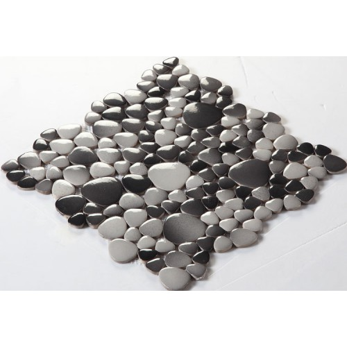 glazed porcelain pebble tile mosaic sheets kitchen backsplash tiles fambe ceramic pool floor tiles FS1710 porcelain mosaics fireplace wall stickers
