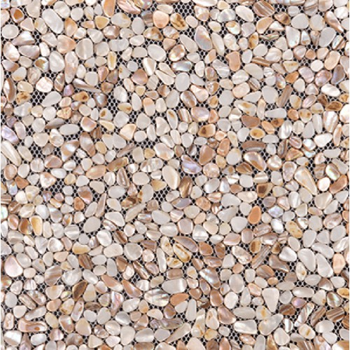 Seashell tiles mother of pearl backsplash irregular mosaic floor tiles random chips shell tile for kitchen and bathroom FWS004