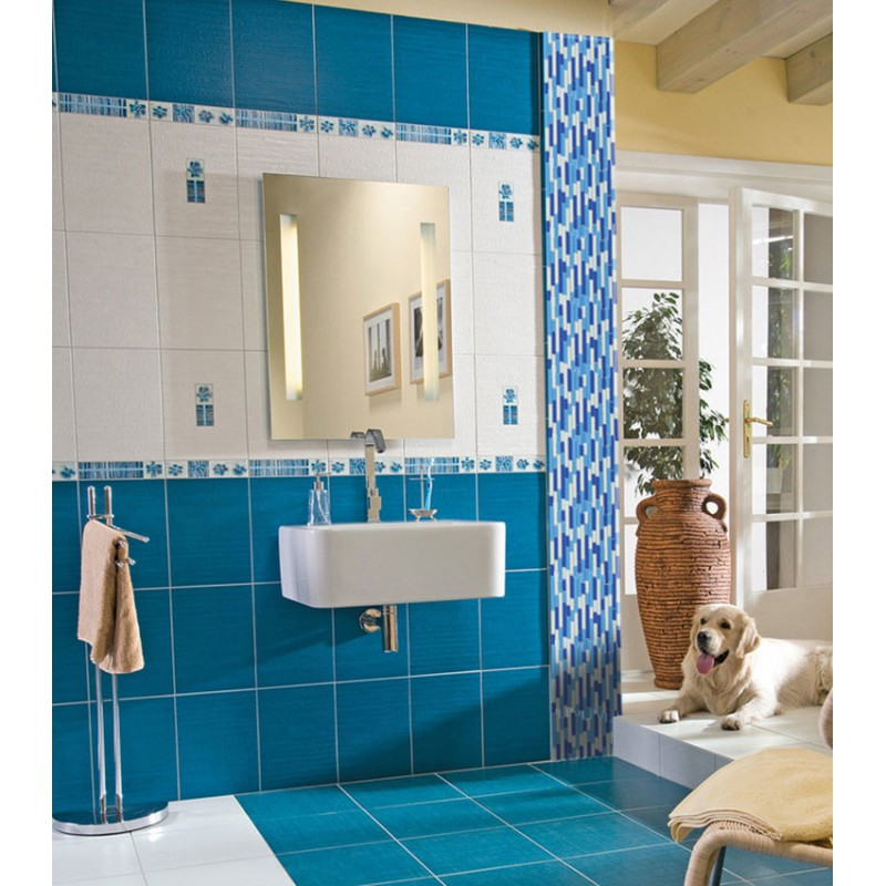 Mosaic Bathroom Tile Ideas: Crystal Glass Mosaics Blue Shower Tile Mosaic Kitchen