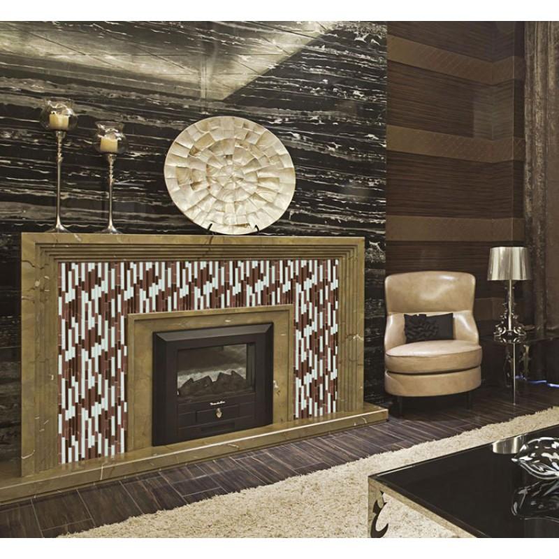 Glass Mosaic Tile Backsplash Kitchen Interlocking Glossy
