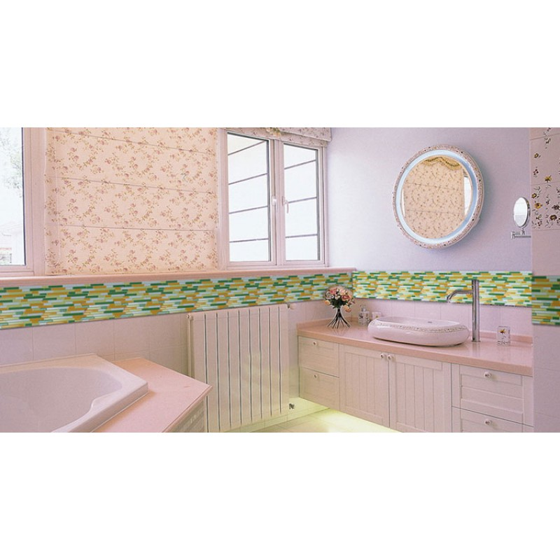 Crystal glass mosaics swimming pool mosaic tile kitchen for Swimming pool wall tiles