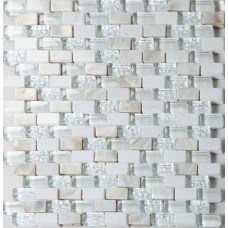Glass stone mosaic tile backsplash mother of pearl subway tiles white wave crystal & shell tile patterns for kitchen wall designs SGT001