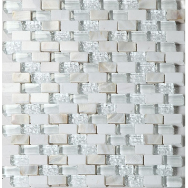 Glass Stone Mosaic Tile Backsplash Mother Of Pearl Subway Tiles