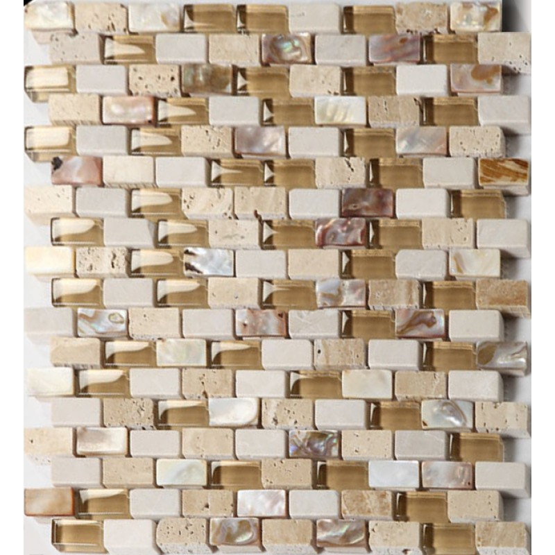Gl Stone Mosaic Tile Backsplash Mother Of Pearl Subway Tiles White Wave Crystal Shell
