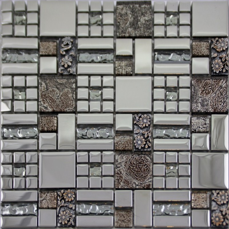 crystal glass mosaics tile mosaic kitchen backsplash wall designs GCBQ01  porcelain flower mosaic glass sheet bathroom tiles
