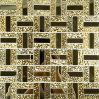 Gold glass mirror tile backsplash bathroom mirrored mosaic wall tiles kitchen backsplashes ideas GMT135