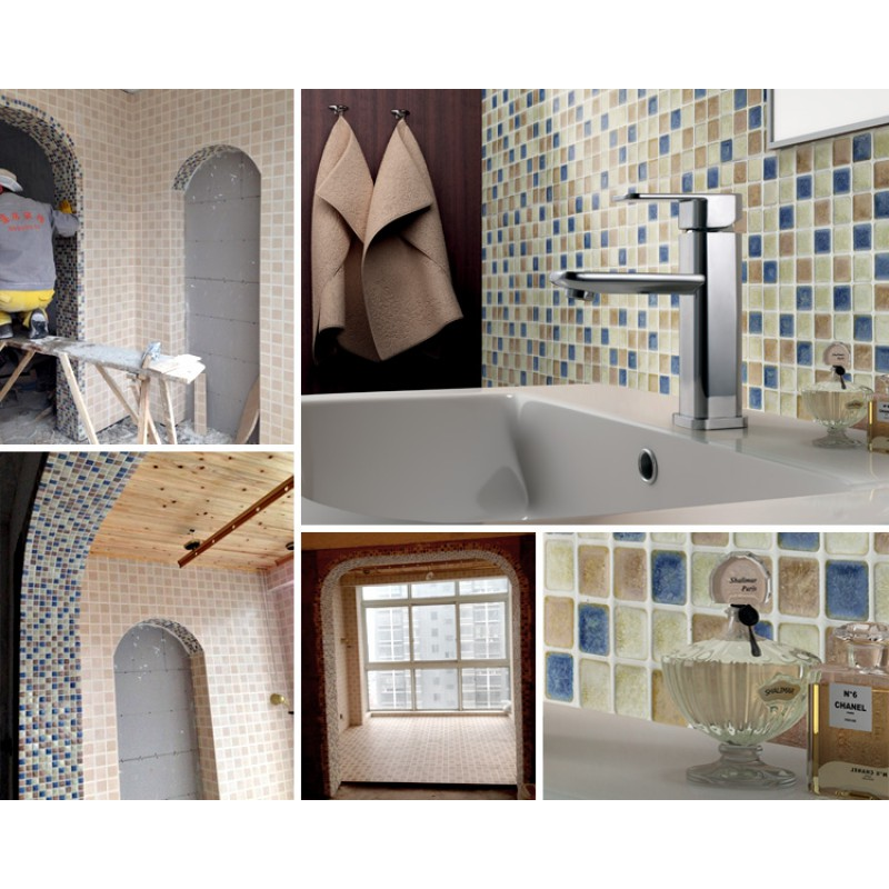 ... Italian Porcelain Tiles Swimming Pool Glazed Ceramic Mosaic Beige And Blue  Kitchen Tile Backsplash Cheap GM01