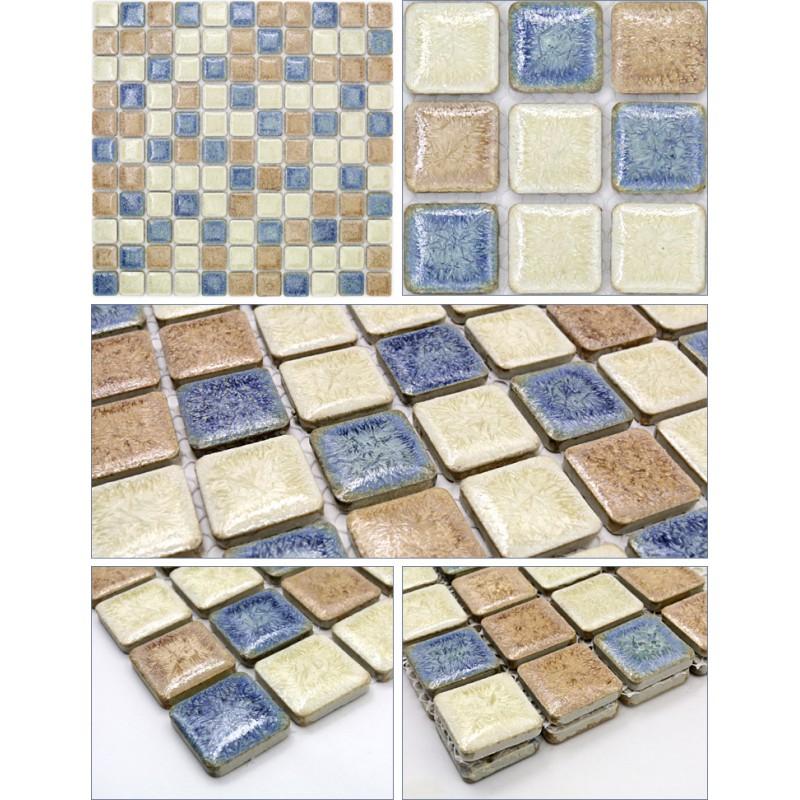 Porcelain Mosaic Tile Sheets Kitchen Backsplash Tiles Glazed Ceramic