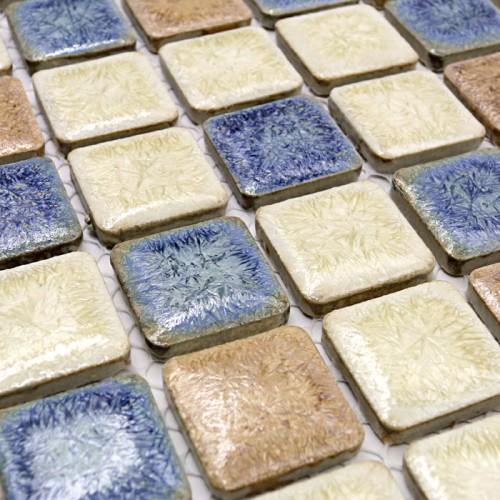 italian porcelain tiles swimming pool glazed ceramic mosaic beige and blue kitchen tile backsplash cheap GM01 bathroom flooring mosaic wall tiles