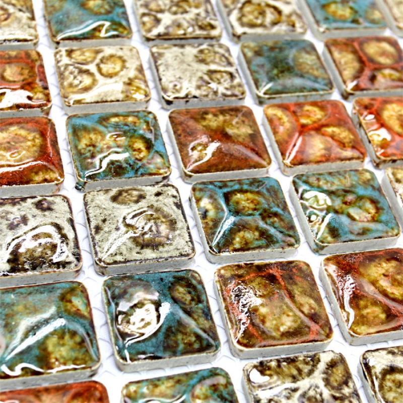Italian Backsplash Tile: Italian Porcelain Tile Shower Floor Glazed Ceramic Mosaic