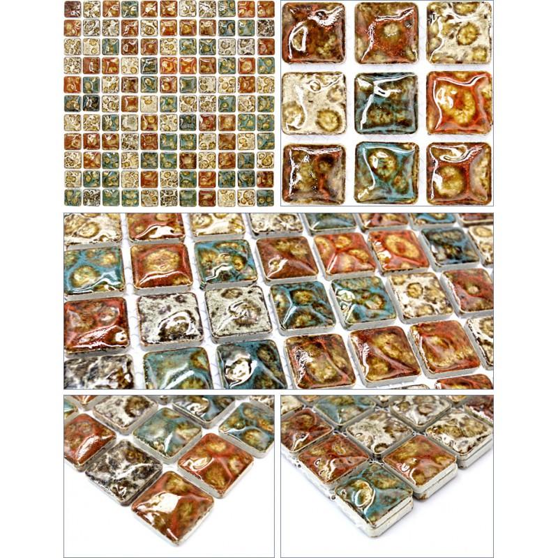 Italian Porcelain Tile Shower Floor Glazed Ceramic Mosaic Tiles Fireplace Gm012 Kitchen Backsplash Bathtub Interior