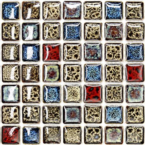 Porcelain mosaic tile sheets kitchen backsplash tiles glazed ceramic floor tiles GM02 shower tile bathroom mirror wall stickers