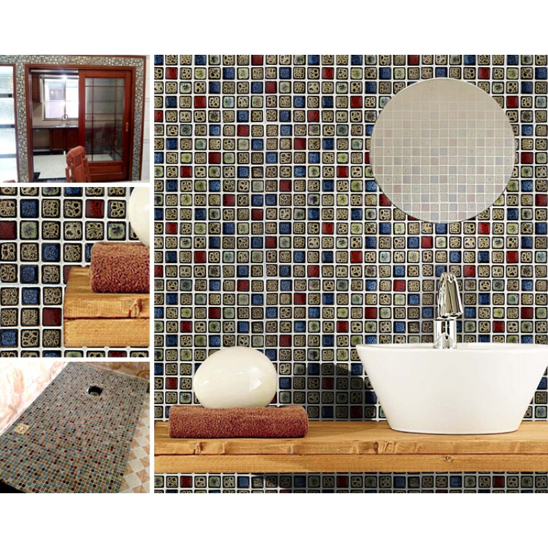 cheap mosaic bathroom tiles italian porcelain tiles swimming pool glazed ceramic 17715