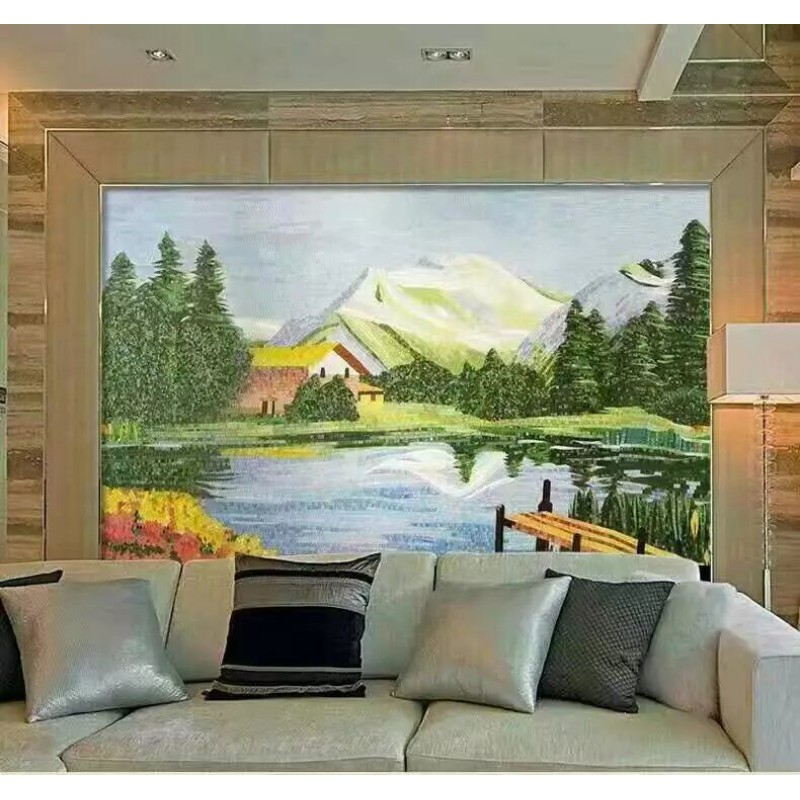 Crystal Gl Mosaic Tile Wall Murals