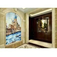 hand made flower tile crystal glass mosaic tile wall murals tiles crystal patterns backsplash puzzle tiles GRST010