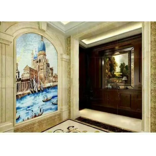 hand made flower tile crystal glass mosaic tile wall murals tiles crystal patterns backsplash puzzle tiles GRST010