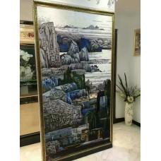 hand made flower tile crystal glass mosaic tile wall murals tiles crystal patterns backsplash puzzle tiles GRST011
